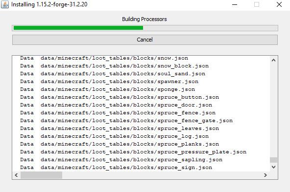Installation af Forge på minecraft-server