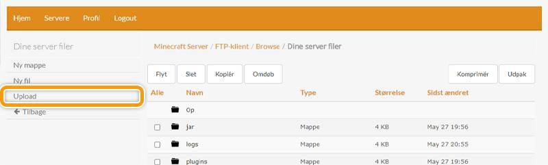 Upload dit server-icon til din server hos FlowServers